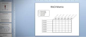 Raci Matrix In Powerpoint 2010 Using Tables Shapes Rasci Matrix Template
