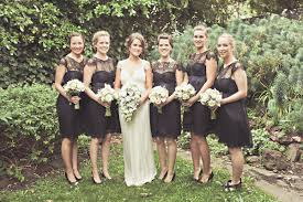 black bridesmaid dresses and black bridesmaids dresses chic vintage