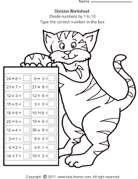 division worksheets divide numbers by 1 to 10