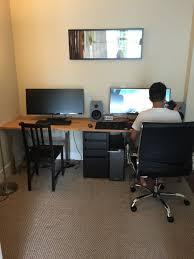 Computer Desk Setup Endearing Two Computer Desk Setup Best Ideas About Person