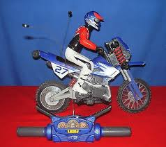 remote control motocross bike tyco rc motorcycle remote control dirt bike 9 6 v for sale