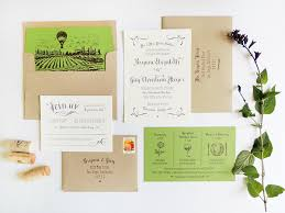 vineyard wedding invitations brynne s modern vineyard wedding invitations
