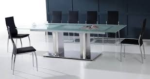 Stainless Steel Dining Room Tables by Fetching Straight Glass Dining Table With Stainless Steel Pedestal