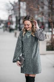 silver new years dresses sparkly silver dress with the knee boots bows sequins