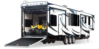 motorhome garages 2015 seismic toy hauler buffalo rv