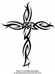 Small Tribal Cross - 50 cross tattoos designs of holy christian celtic and