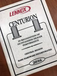 rabe hardware receives prestigious lennox awards