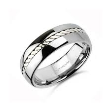 mens titanium wedding rings mens titanium white gold wedding bands criolla brithday
