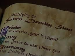 seven deadly sins image identifying seven deadly sins jpg charmed fandom