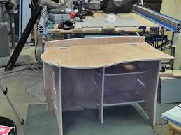 Diy Workstation Desk by My New Computer Desk One More Thing You Can Make With A Cnc Router