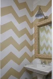 white and green chevron kid bathroom walls design ideas