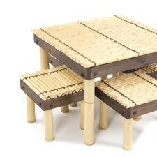 Coffee Table Wood And Glass Furniture Luxury Coffee Table With Stools For Living Room