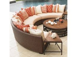 Curved Conversation Sofa by Tommy Bahama Outdoor Living Ocean Club Pacifica 3 Piece
