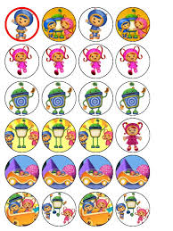umizoomi cake toppers 24 umizoomi edible wafer rice cup cake toppers