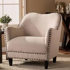 Beige Accent Chair Baxton Studio Seibert Beige Fabric Upholstered Accent Chair 28862