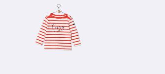 Baby Flag Cyrillus Baby Marine T Shirt In Rot Ecru Gestreift