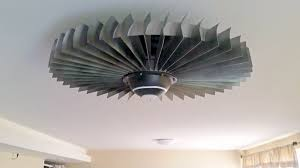 the coolest way to beat the heat a jet engine ceiling fan