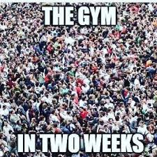 New Years Gym Meme - with the new year around the corner and everyone getting gym