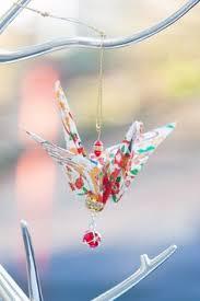 origami peace crane ornament origami cranes