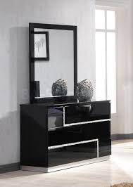 bedroom dresser with mirror awesome modern design black laminated