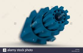 Industrial Theme by Abstract Industrial Theme Background With Gears Stock Photo