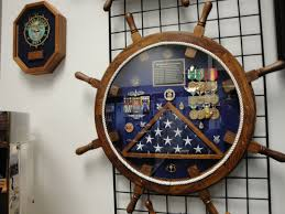 Military Flag Frame John U0027s Shadow Box My Navy Man Pinterest Shadow Box Box And