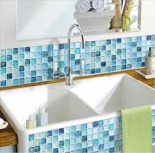 blue tile backsplash amazon com