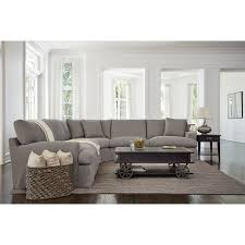 city furniture gray fabric large two arm sectional