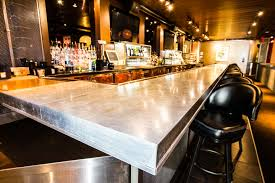 Zinc Top Bar Table Lucky Strike Zinc Bar Top Porter Barn Wood