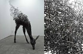 twisted beastly sculptures tomohiro inaba