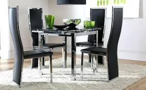glass and chrome dining table fabulous extending glass chrome dining room space square black glass