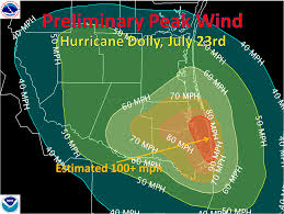 Texas Weather Map Storm Report On Hurricane Dolly In The Rio Grande Valley And Deep