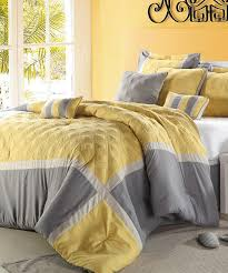 Yellow Grey And White Bedding Nursery Beddings Gray And Yellow Twin Comforter Set In