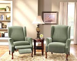 recliner furniture compact arm chair engaging white slipcovers