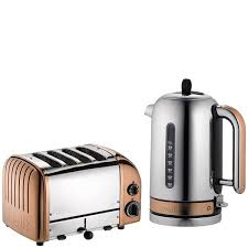 Dualit Stainless Steel Toaster Dualit Classic Vario 4 Slot Toaster U0026 Kettle Bundle Copper