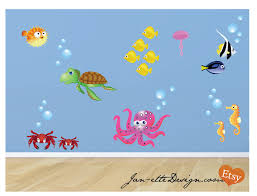 fish and ocean theme fabric wall decals fish wall stickers ocean fish and ocean theme fabric wall decals fish wall stickers