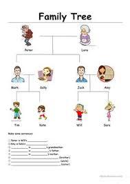 100 free esl family tree worksheets