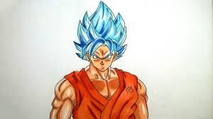 dragon ball super saiyan goku drawings drawing sketch