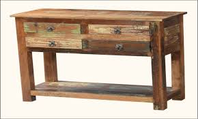salvaged wood console table awesome table rustic wood console salvaged sofa pic for trend and