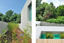 roof garden installation home exterior design idea for modern home element modern house design with rooftop terrace in slovenia by bevk glubdubs unique house