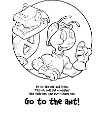 ant coloring pages and classroom activities train track ants page