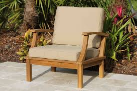 deep seat teak armchair including full cushions oceanic teak