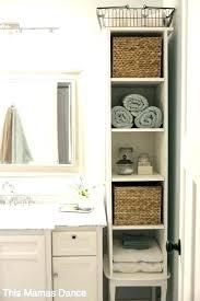 small bathroom cabinet storage ideas tiny bathroom storage ideas traciandpaul com