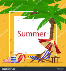 beach jeep clipart summer vacation template beach summer accessories stock vector