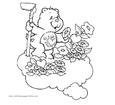 care bears coloring picture care bear garden