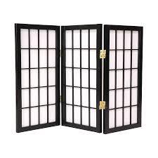 oriental furniture desktop window pane 3 panel black wood and