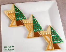 chrismukkah decorations curtain up cookie design chrismukkah cookies