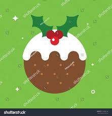 christmas pudding card stock vector 712044124 shutterstock