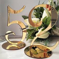gold wedding table numbers personalized wedding table number acrylic silver gold table numbers