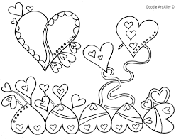 valentines day coloring pages doodle art alley